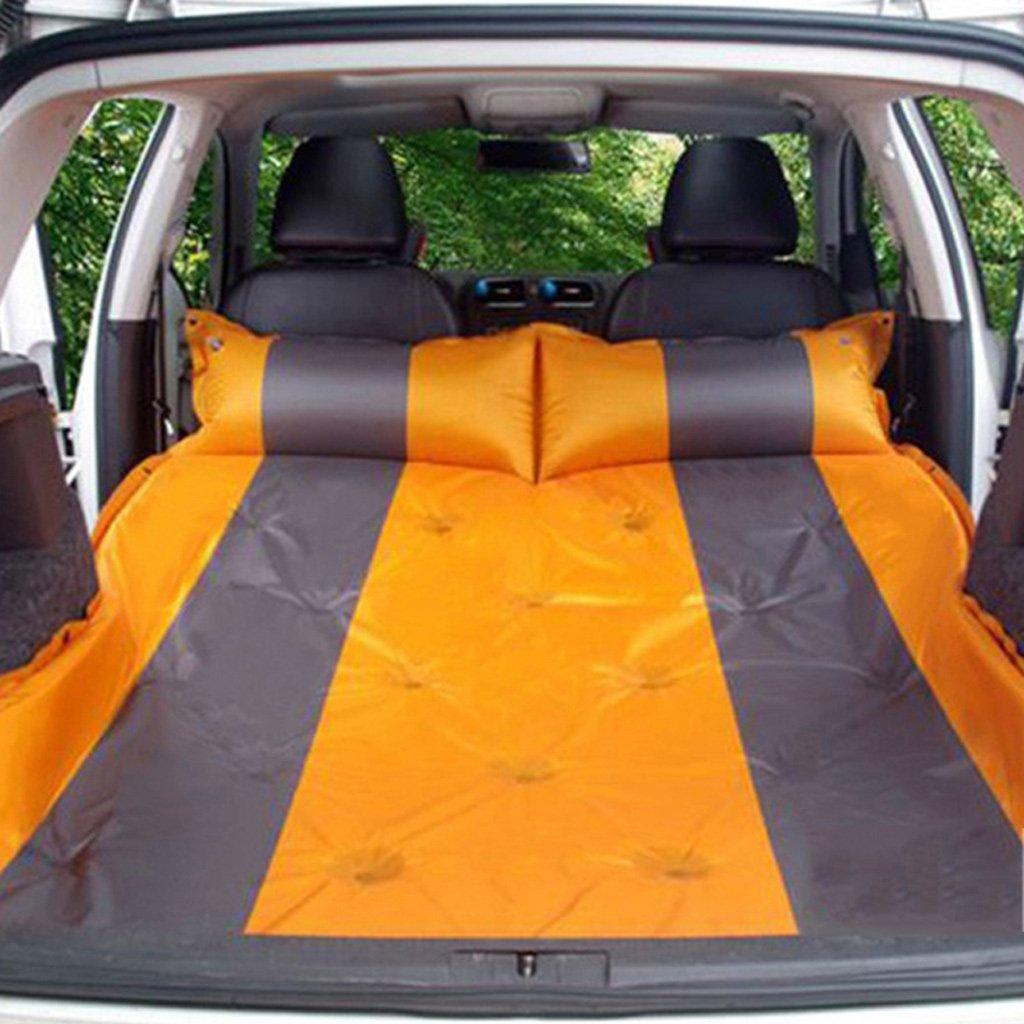 カートラベルベッドトランクカーベッドカーインフレータブルクッションカーインフレータブルベッドの厚さ5センチメートル-グリーン(多色オプション) B07FPMP1V5  Orange