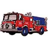 PatchMommy Iron On Applique Patch, Fire Truck - Kids