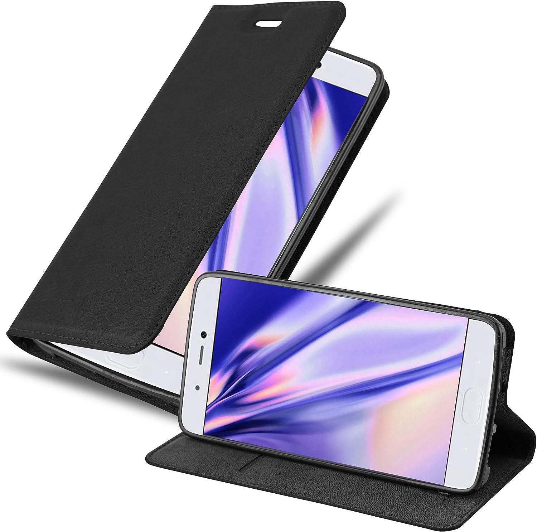 Cadorabo Funda Libro para Xiaomi Mi 5S en Negro Antracita - Cubierta Proteccíon con Cierre Magnético, Tarjetero y Función de Suporte - Etui Case Cover Carcasa