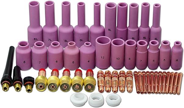 10pk 54/N15/soldador TIG linterna cer/ámica Shield Tazas al/úmina boquillas 17/18/26/series # 7