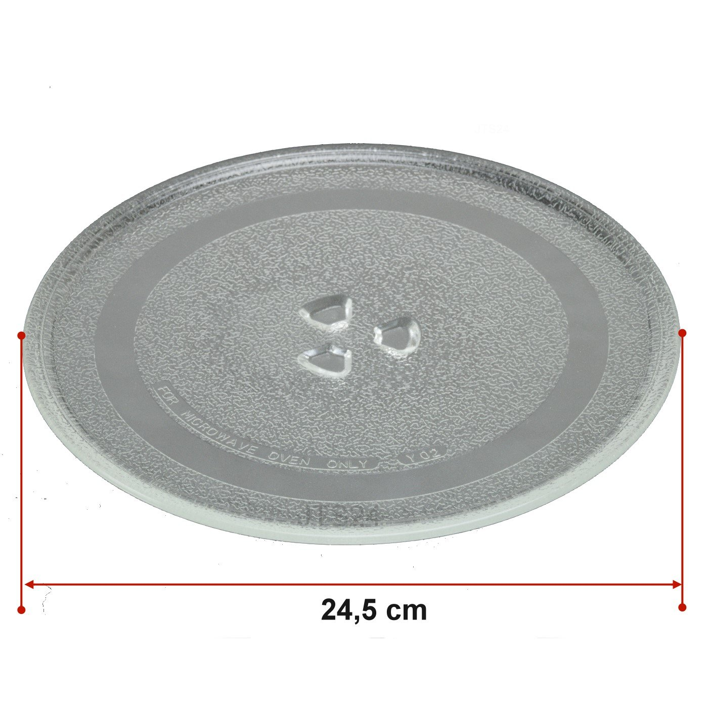 DeClean Microondas Plato 24,5 cm Plato de Cristal Platos Microondas Universal Plato Giratorio