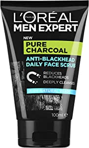 L'Oréal Paris Men Expert Pure Power Face Scrub For Men, Exfoliating Blackhead Wash, for Oily Skin and Breakouts, 100ml