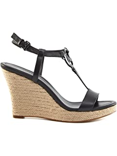 68ca5f2caf8 Michael Michael Kors Tania Espadrille Wedge Sandals Black Size 10