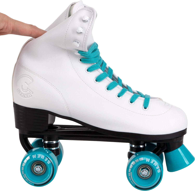 C SEVEN C7skates Soft Faux Leather Quad Roller Skates