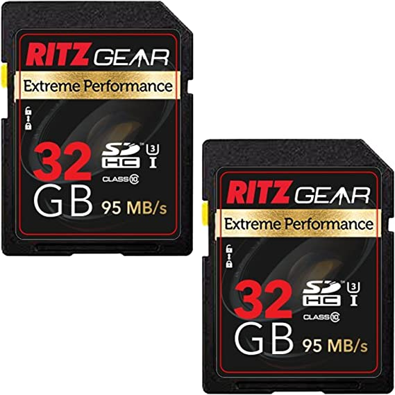 Amazon.com: Ritz Gear Extreme rendimiento SD tarjeta de 32 ...
