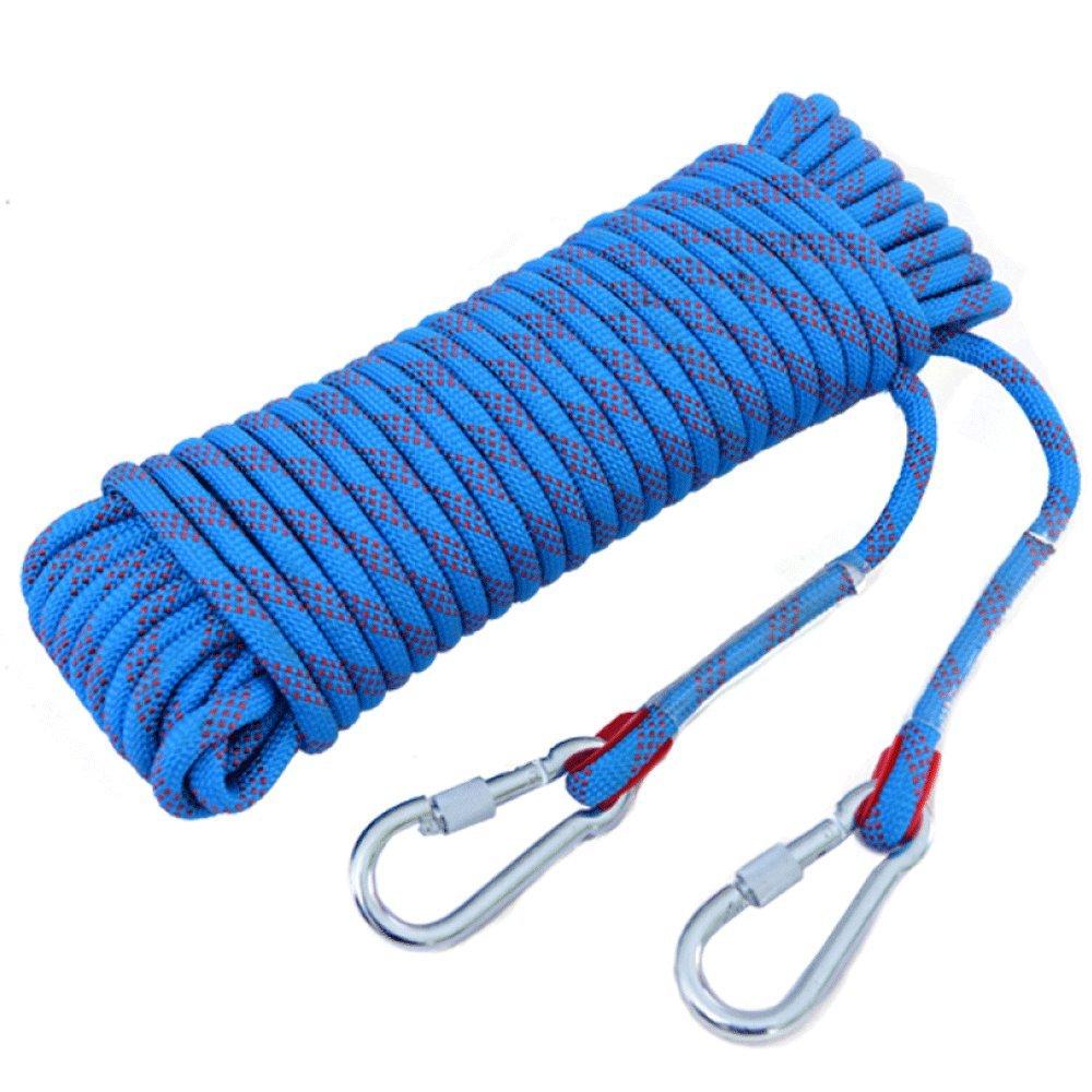 Bleu Corde d'escalade Escape Sécurité Alpinisme Wearable en Plein Air Sauvetage Corde De Sécurité Haute Altitude 50m16mm