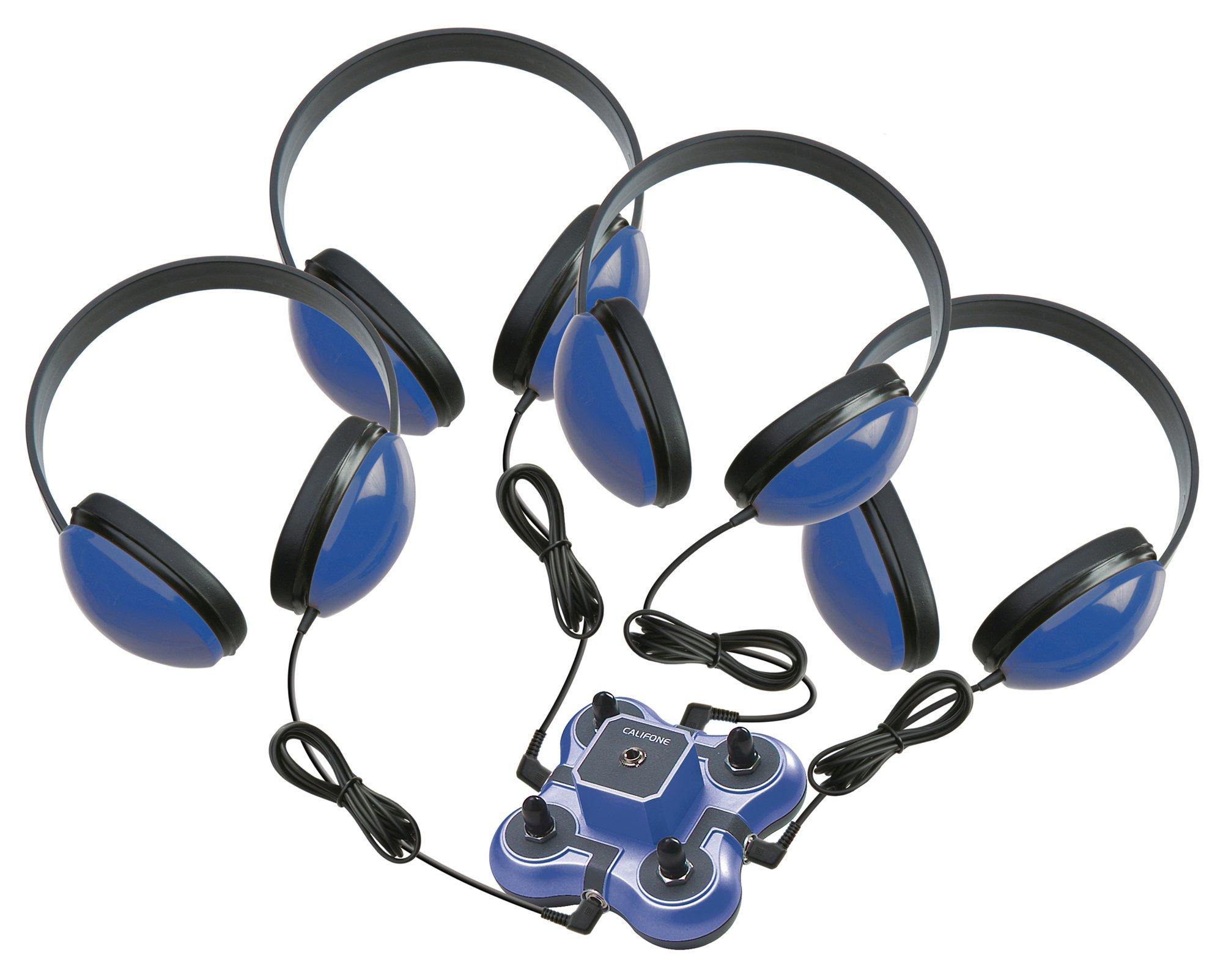 Califone 1114BL-4 1114BL-4 Kid First Non-Powered Listening Center, Blue