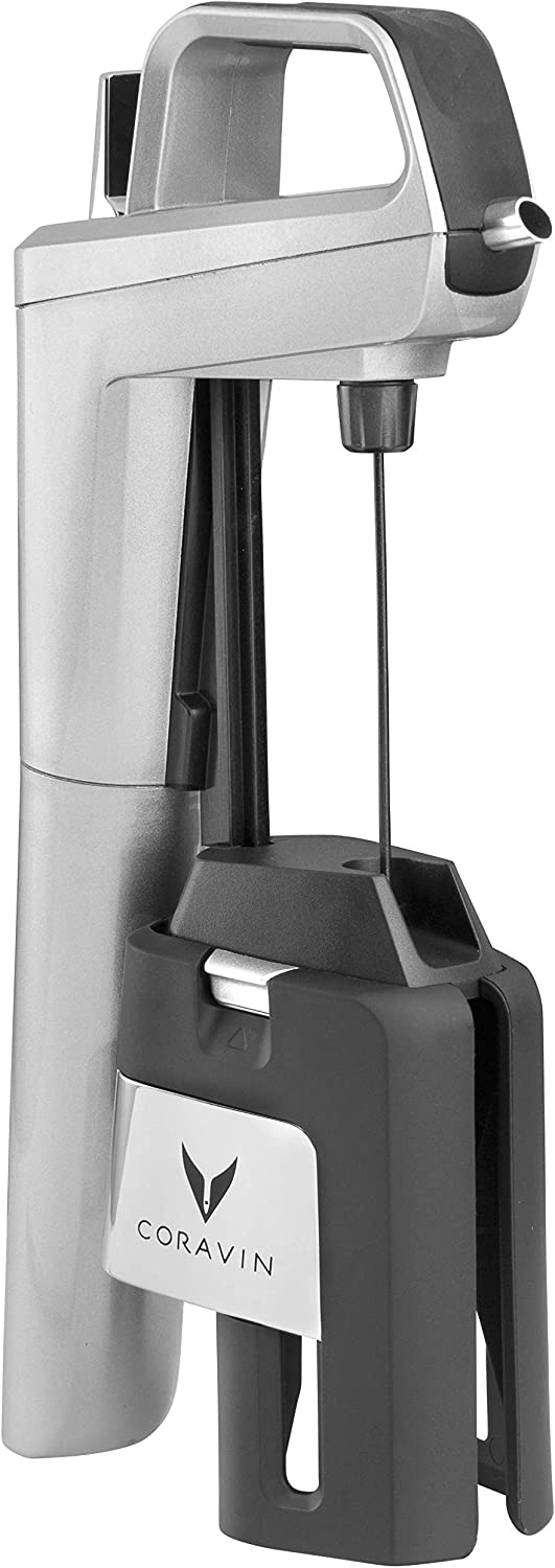 Model Six Core Wine Preservation System Silver 2 Gas Capsules and Screw Cap Coravin