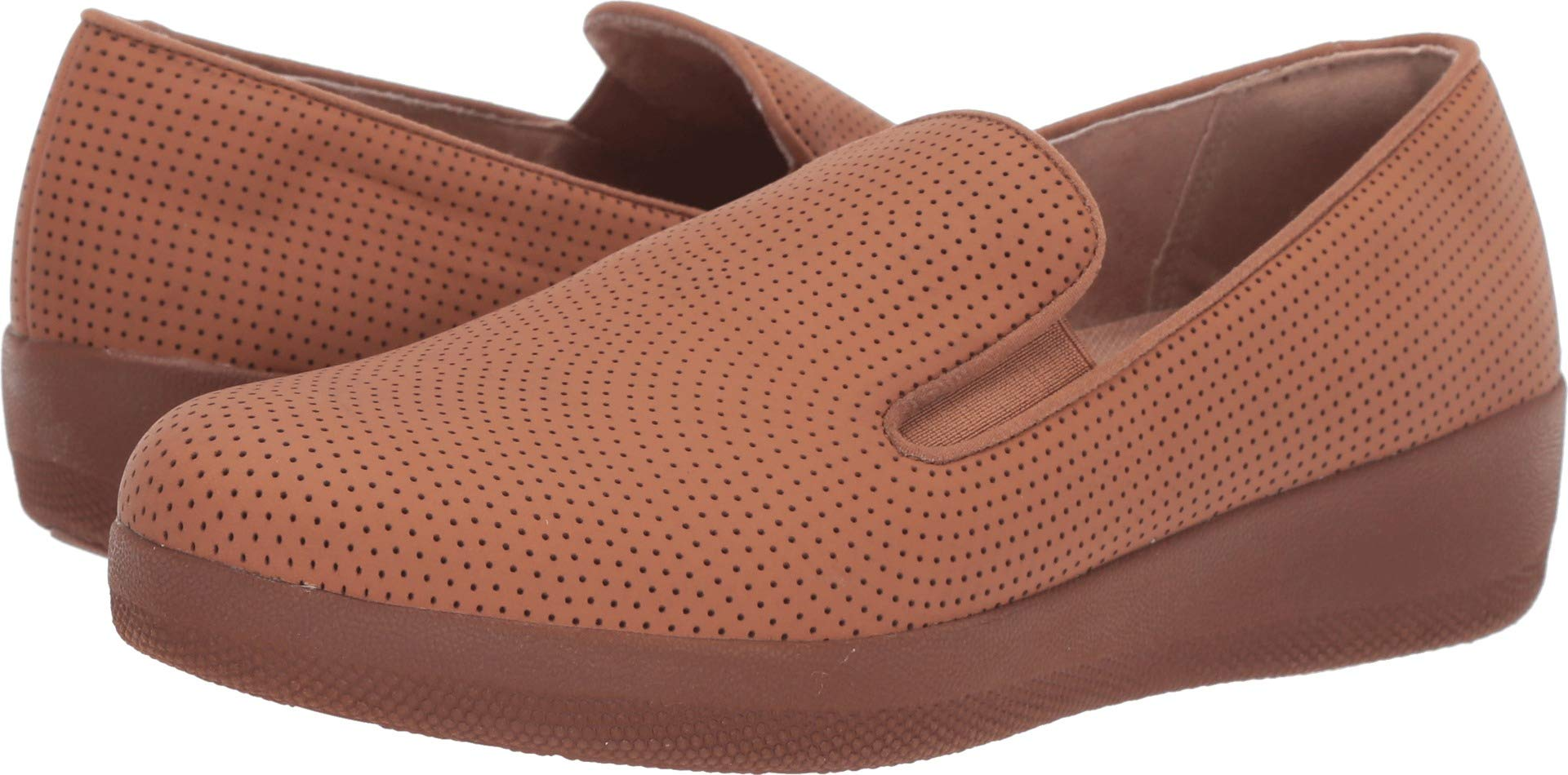 FITFLOP Women's Superskate Perforated Skate Shoe Light Tan 6 M US by FITFLOP