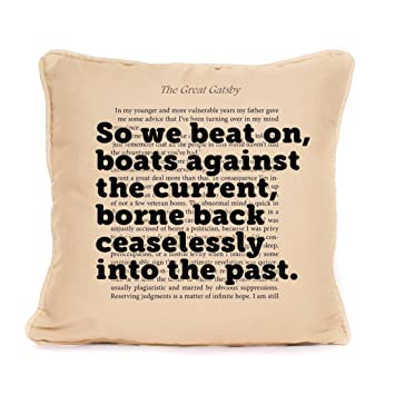 Amazoncom The Great Gatsby Quote So We Beat On Boats Piped