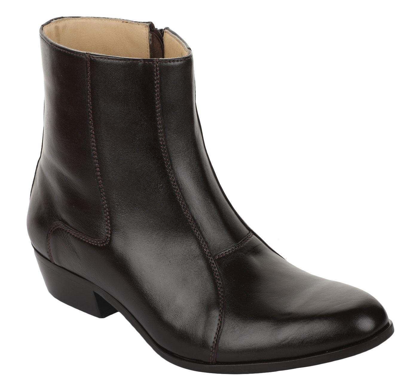 Liberty Men's Genuine Leather Side Zipper Ankle Boots Formal Dress Shoes
