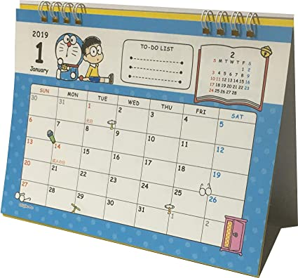 doraemon fujiko fujio desk ring japanese calendar 2019 year 12 month japan anime