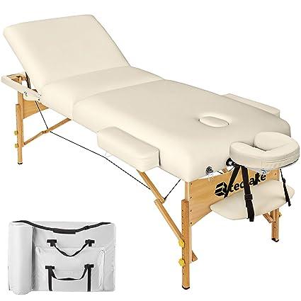 Tectake Table Lit De Massage Pliante Portable Diverses Couleurs Au Choix Beige