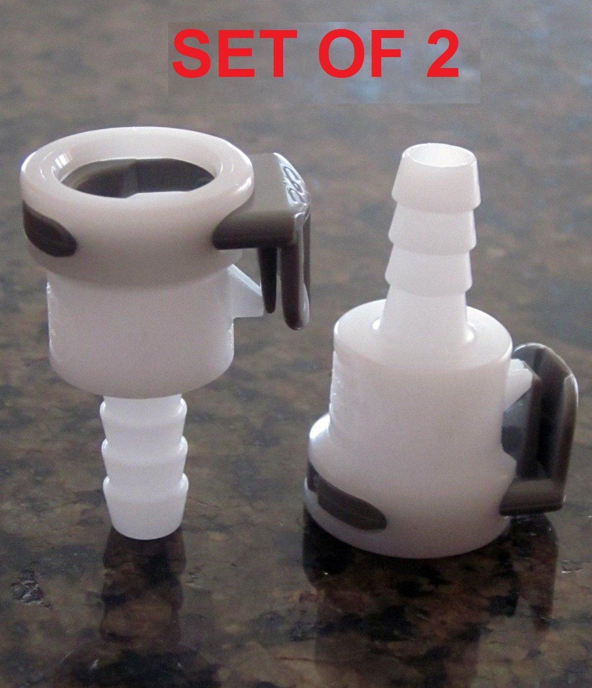 Set of 2 Female Air Bed Parts Connectors Sleep Number Bed Pumps SEE LEAK REPAIR