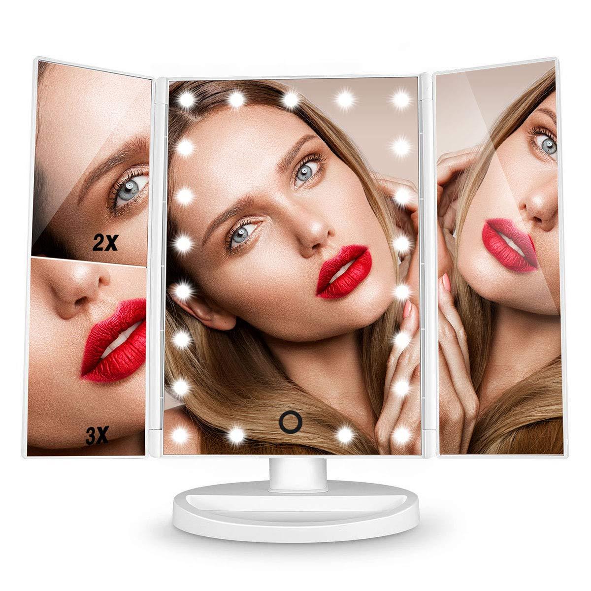Espejo de maquillaje con luz HAMSWAN