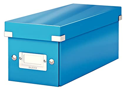 Leitz Caja para guardar CD, Azul, Click and Store, 60410036