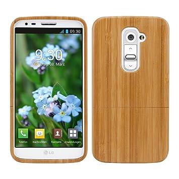 kwmobile Funda para LG G2 - Carcasa Protectora de [bambú ...