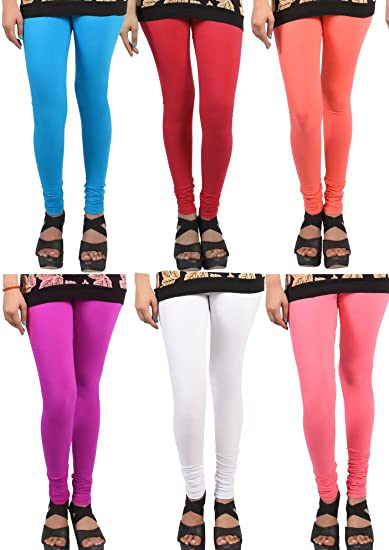 32d858c3b Wekay lifestyle Women s Cotton Sale for 6 Piece Leggings  Amazon.in   Clothing   Accessories