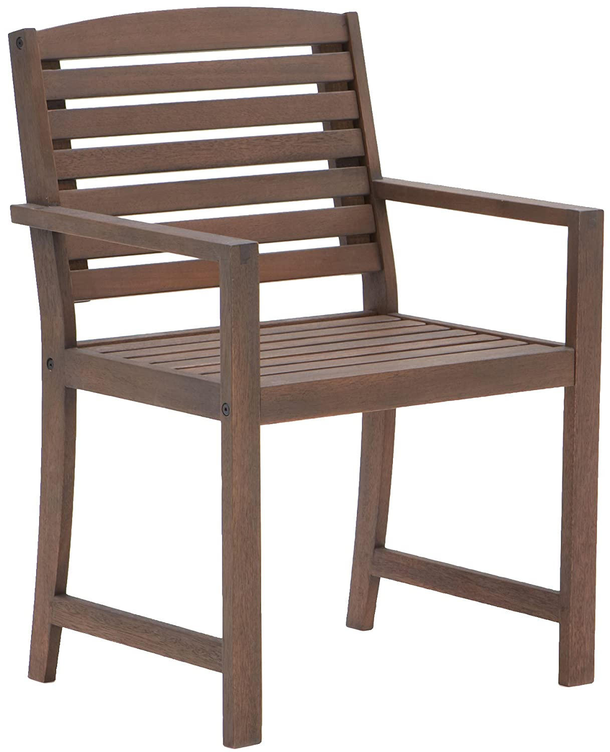 Amazon.com : Strathwood Vashon Hardwood Dining Arm Chair, Set of 2 : Patio  Dining Chairs : Garden & Outdoor