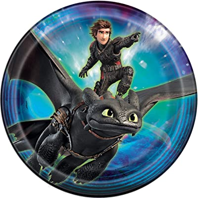 Unique How to Train Your Dragon Party Plates, 8 Ct.: Toys & Games