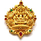 Anvi's lakshmi pendent with emeralds and rubies