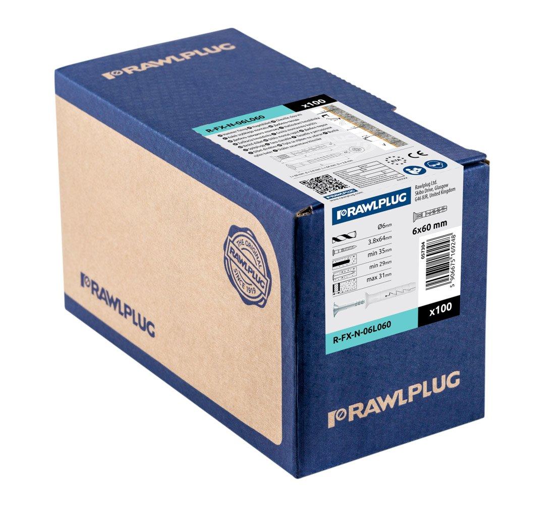 parent FX-N-06C040 Marteau Rawlplug en nylon de fixation T/ête cylindrique
