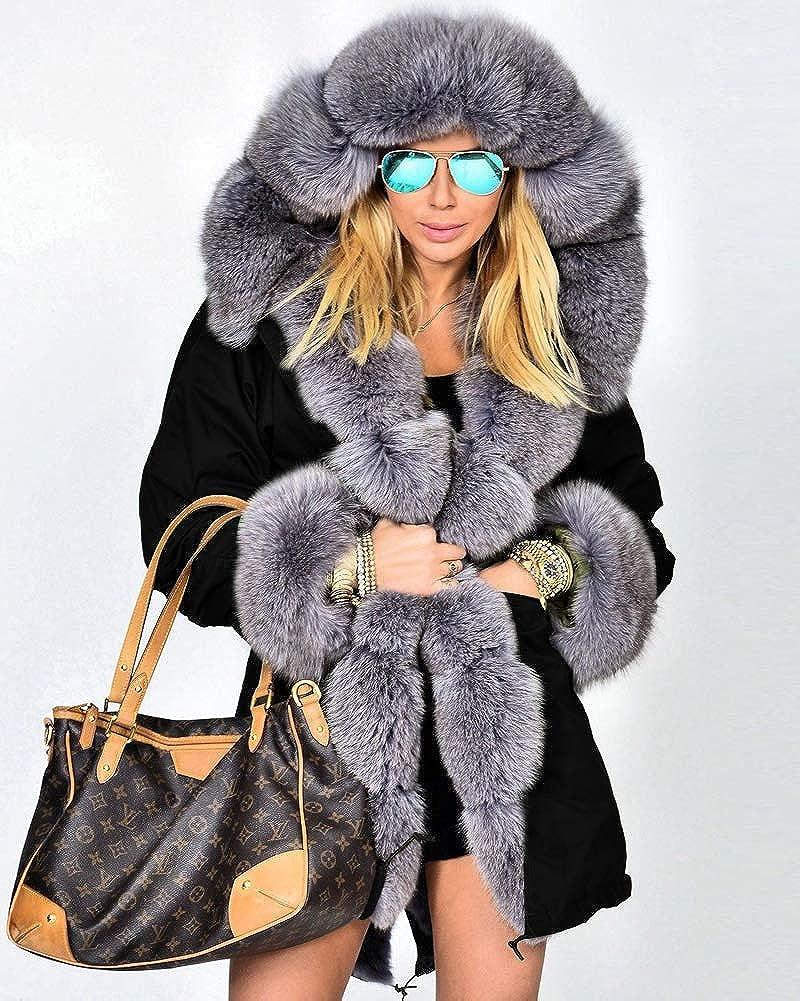 parka con cappuccio taglia 36-48 Cappotto invernale da donna Roiii