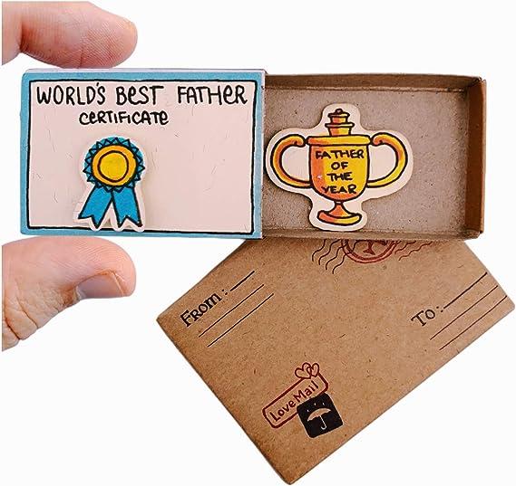 immi Mini caja de cerillas sorpresa regalo (ocasión / mejor padre): Amazon.es: Amazon.es