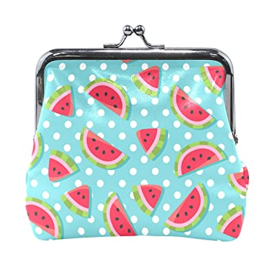 5480d117bf Sunlome Watermelon White Polka Dots Coin Purse Change Cash Bag Small Purse  Wallets for Women Girl