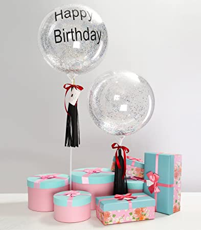 Eanjia Happy Birthday For Men Father Boyfriend Balloon Special Gift Clear 18inch Bubble