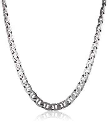 men steel s mens amazon necklace curb dp chain stainless com
