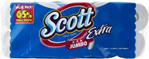 Scott Extra Bath Tissue, 300ct (Pack of 10)