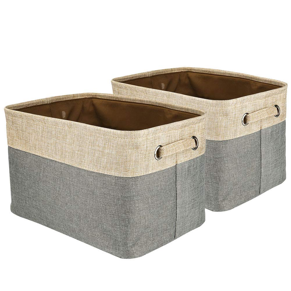 Walsilk Fabric Bin Set,Foldable Storage Cube Basket Bin,Collapsible Rectangle Organization Baskets,for Nursery,Closet,Toy,Bra Bin,Cosmetic Storage Box(1Pack, S(10.63x7.87x4.72inch))