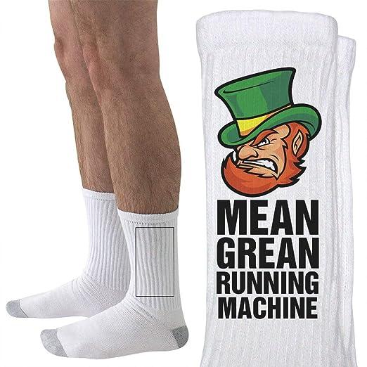 f6c1e8f4d2d3 St Pattys Mean Green Run Machine: Unisex Hanes Crew Socks at Amazon Men's  Clothing store: