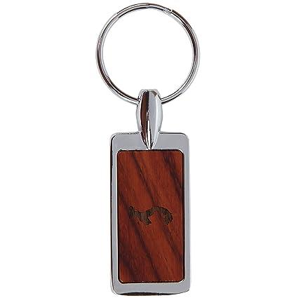 Llavero de madera de palisandro Panamá con diseño grabado ...