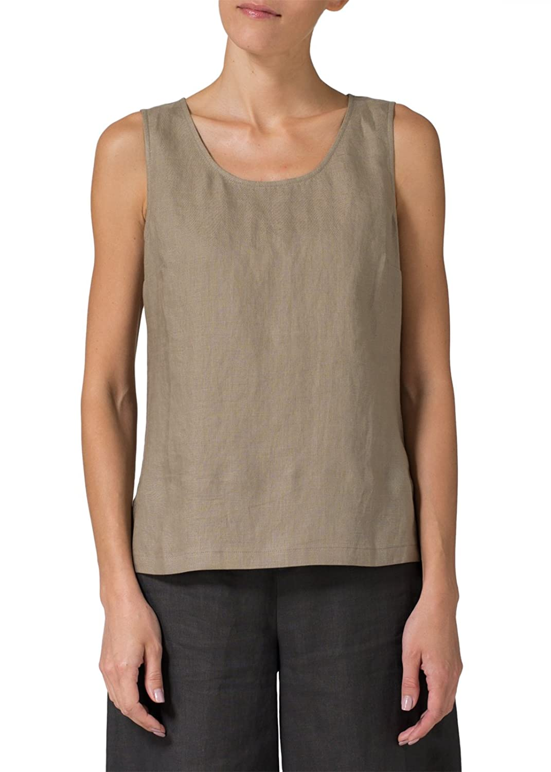 Vivid Linen Sleeveless Pullover Top