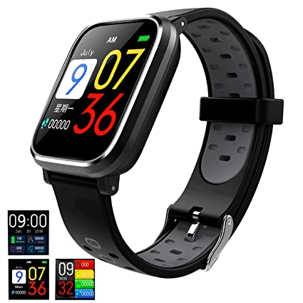 Good voice Fitness Tracker Smartwatch with All-Day Heart Rate, IP67 Waterproof Activity Tracker Watch with Sleep Calorie Counter Pedometer Watch for ...