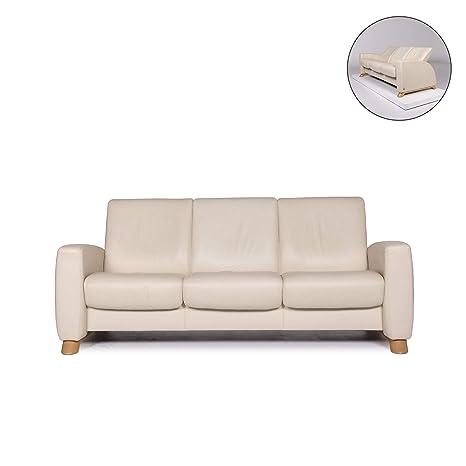 Amazon.com: Stressless Arion Leather Sofa Cream Three-Seater ...