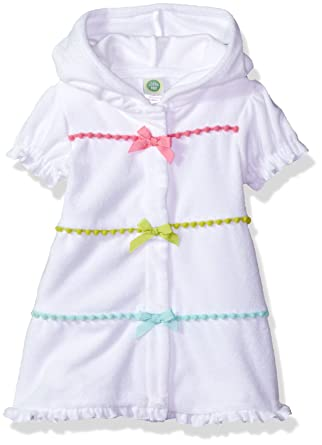 38e7dad14a9 Amazon.com  Little Me Baby Girls  UPF 50+ Short Sleeve Hooded Cover-up   Clothing