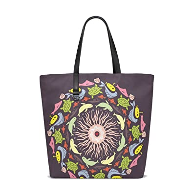 fce887fac469 Image Unavailable. Image not available for. Color  GIOVANIOR Colored Round  With Fish Travel Shoulder Bag ...