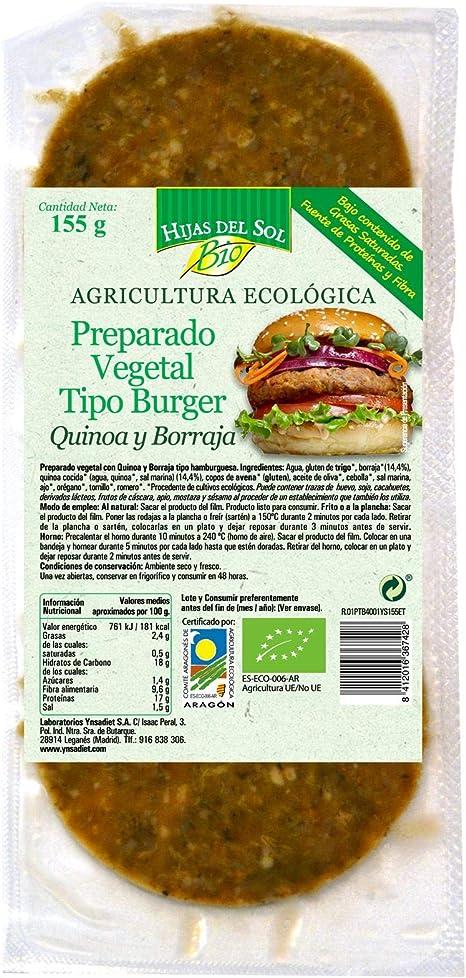 Ynsadiet Hamburguesa Vegana Quinoa 160 Gr. Ynsadiet 160 g ...