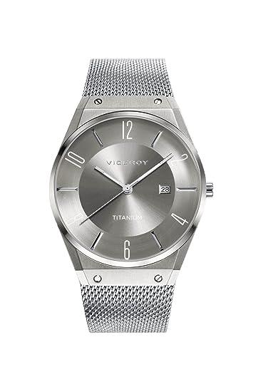 Viceroy Reloj Analogico para Hombre de Cuarzo con Correa en Titanio 42323-17: Amazon.es: Relojes