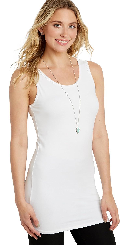 7729ad37250 maurices Women's Scoop Neck Tunic Tank Medium White Lightning at Amazon  Women's Clothing store: