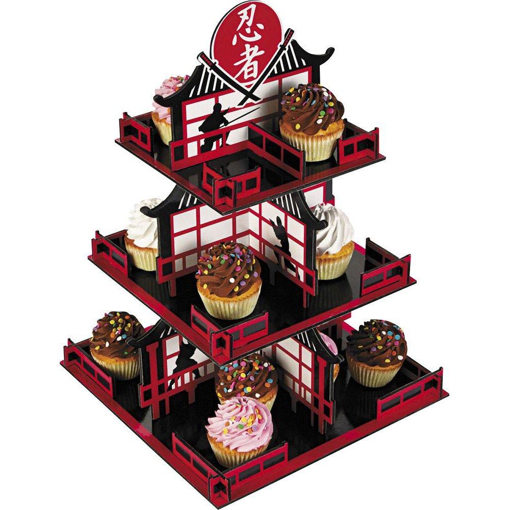 Fun Express - Ninja Cupcake Holder for Birthday - Party Supplies - Serveware & Barware - Misc Serveware & Barware - Birthday - 1 Piece