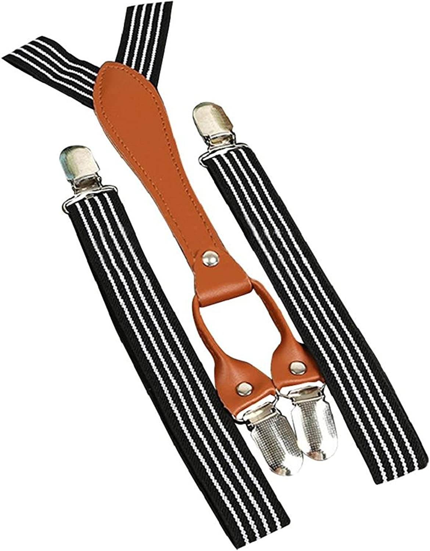 Bodhi2000 Unisex Kids Adjustable Clip On Suspenders Elastic Braces