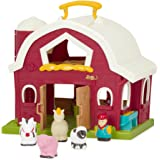 Battat Big Red Barn Animal Farm Playset for Toddlers 18m+ (6 pieces)