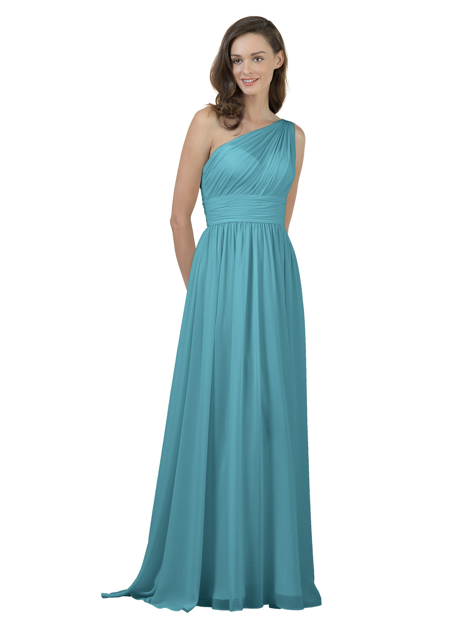 Turquoise bridesmaid dresses in long or short size