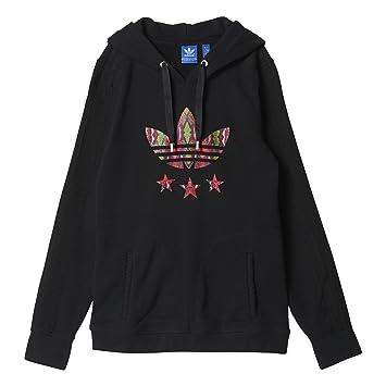 adidas Damen Kapuzenpullover Slim Hoodie, Black, 40  Amazon.de ... 1fa9b7f987