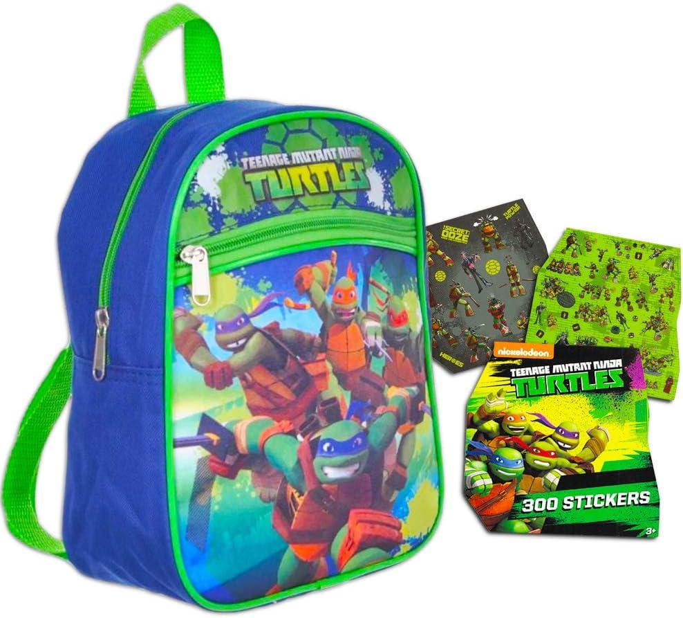 """Teenage Mutant Ninja Turtles Preschool Backpack Toddler (11"""") with TMNT Bonus Stickers"""
