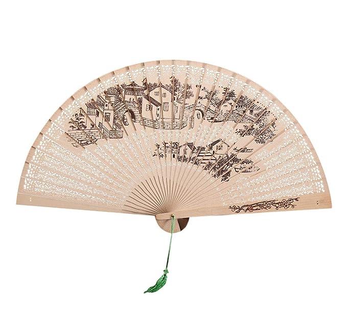 Amazon.com: Wensy - Abanico tradicional chino hueco de ...